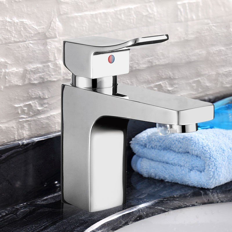 Decoraport Modern Style Basin&Sink Faucet - Brass with Chrome Finish (YDL-W008)