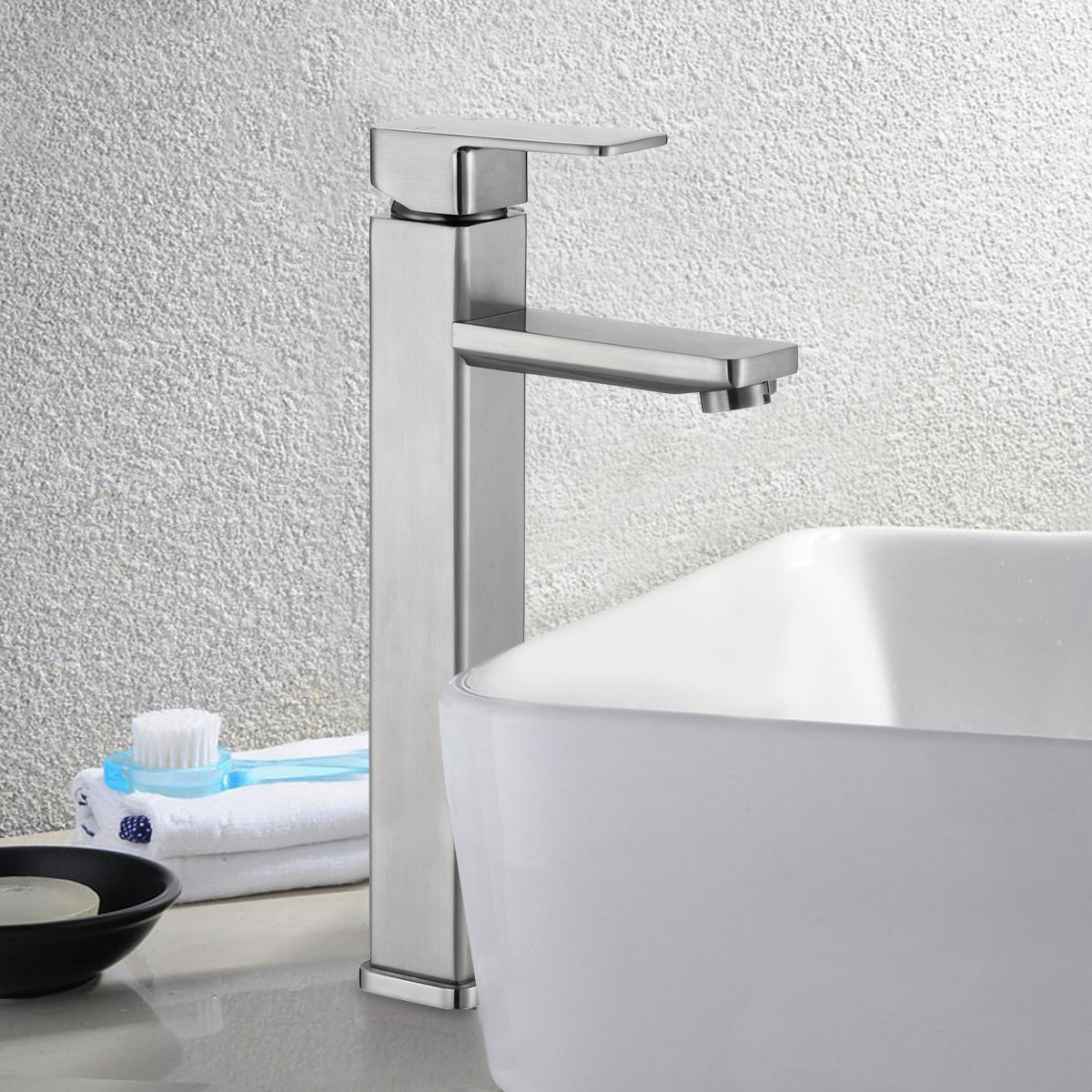 Basin&Sink Faucet - Brass in Brushed Nickel (81H36-BN-012-T)