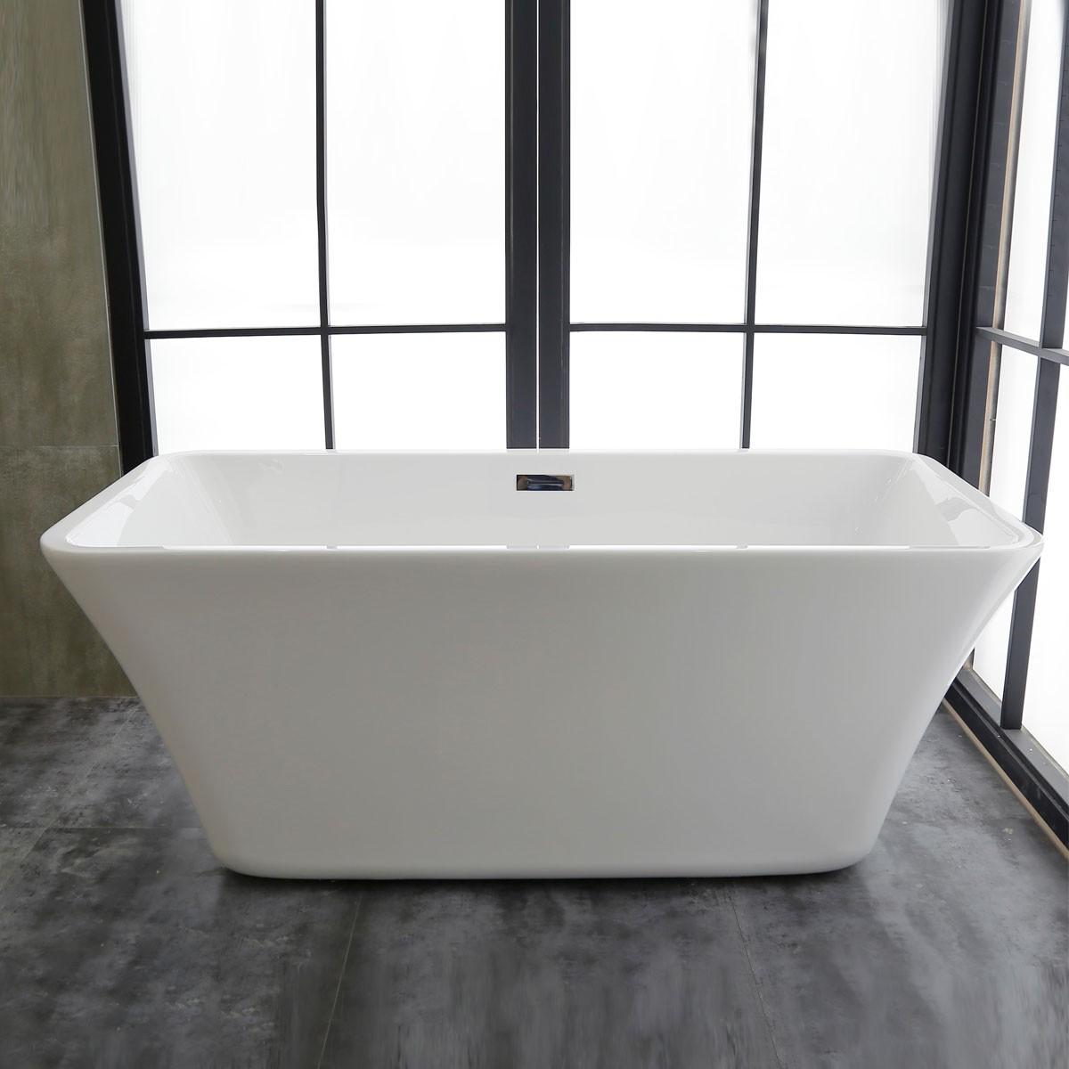 59 In Freestanding Bathtub - Acrylic Pure White (DK-PW-K56570)