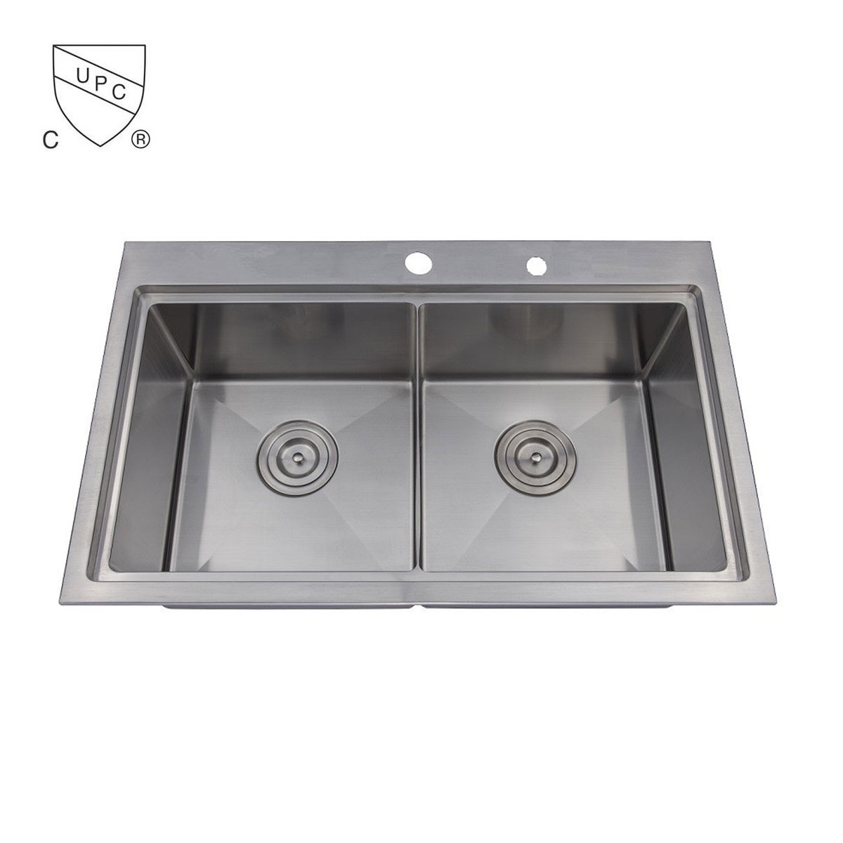 Stainless Steel Double Bowl Kitchen Sinks 30 x 185 in stainless steel double bowl kitchen sink dlr3018 r10 30 x 185 in stainless steel double bowl kitchen sink dlr3018 r10 workwithnaturefo