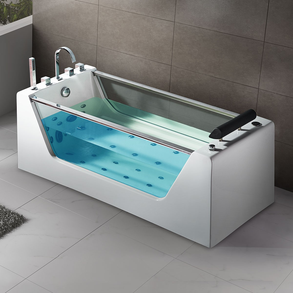 67 In Whirlpool Tub - Acrylic White (DK-Q412) | Decoraport USA