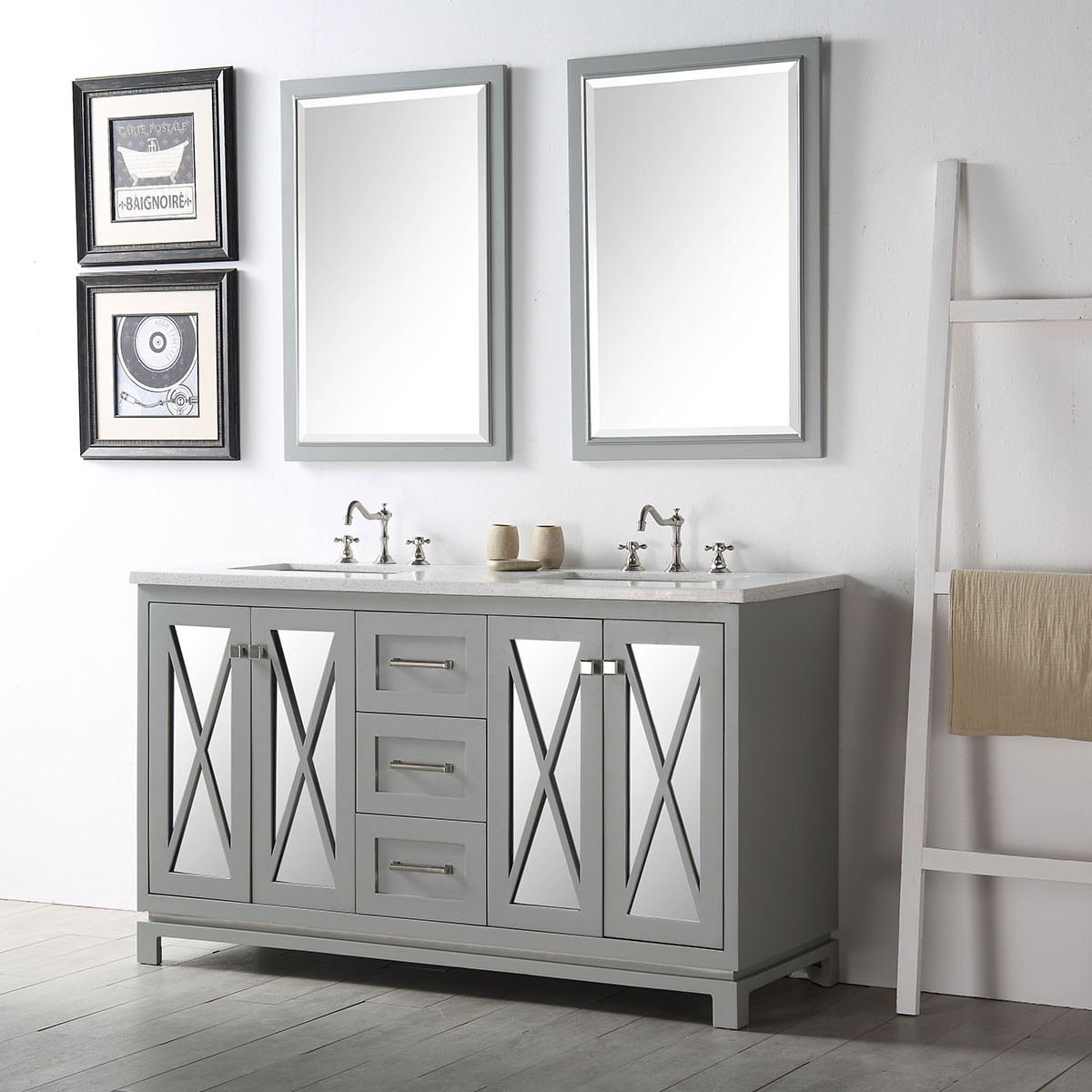 60 in bathroom vanity set without mirror dk 6460 cg 60 in bathroom vanity set without mirror dk 6460 cg geotapseo Image collections