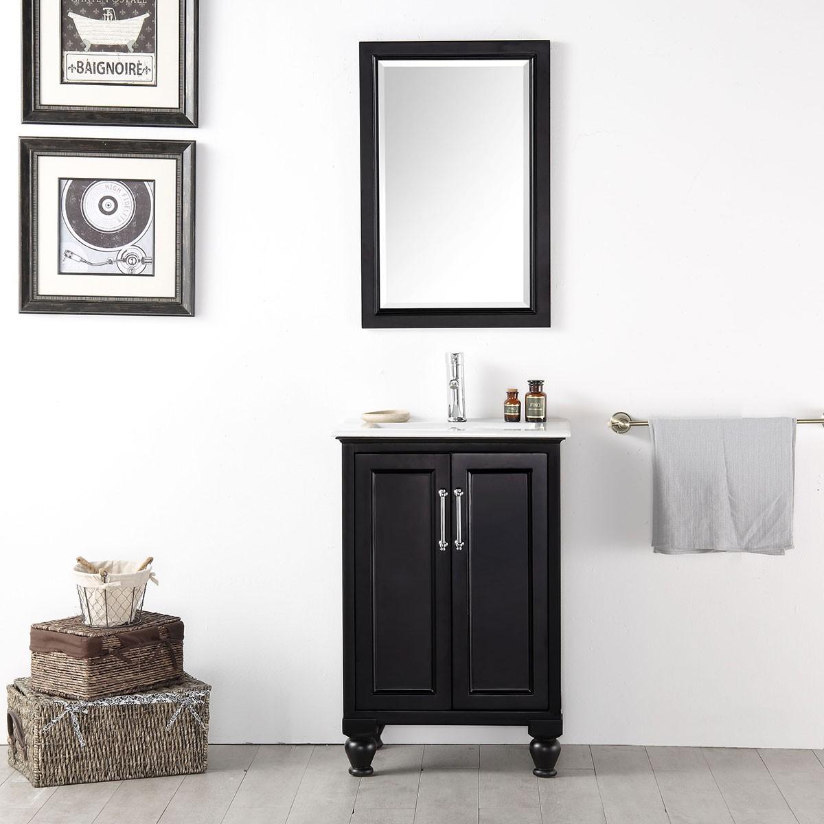 24 In Freestanding Bathroom Vanity Set Without Mirror Dk 6524 E Decoraport Usa