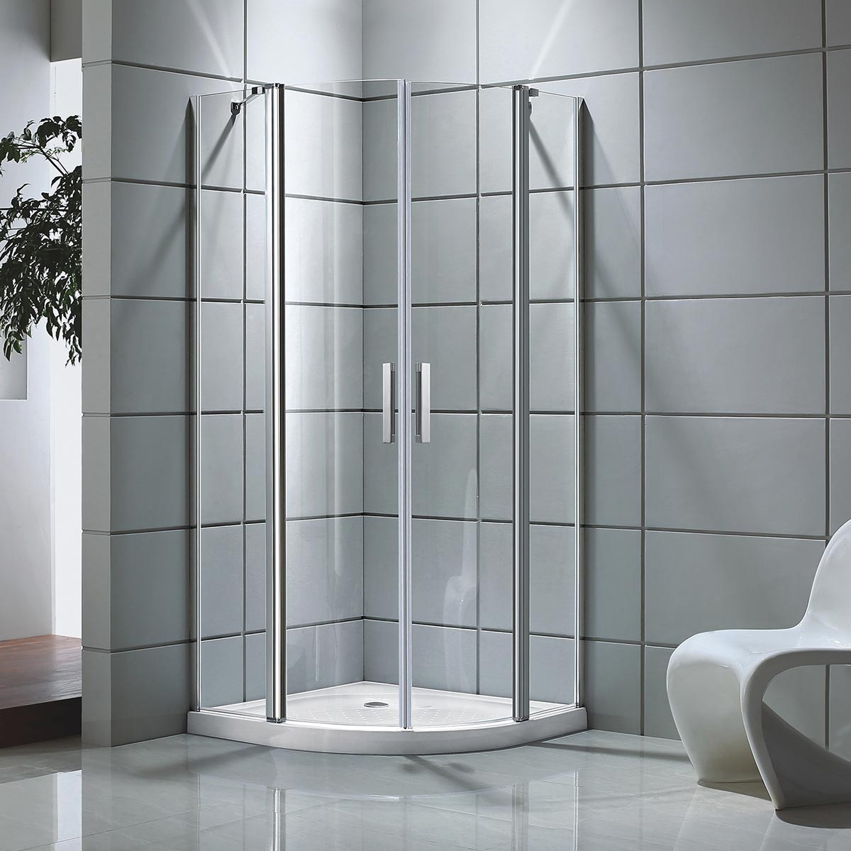 39 x 39 x 75 In. Shower Enclosure (DK-D501-100) | Decoraport USA