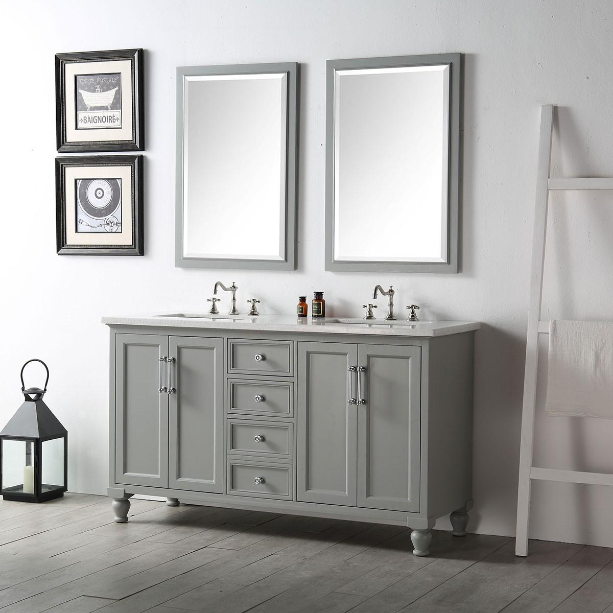 60 In. Bathroom Vanity Set (DK-6560-CG-SET)