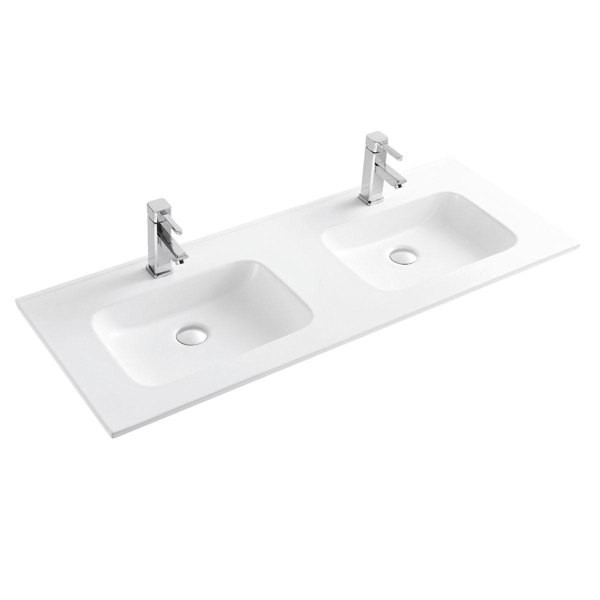 White Rectangle Ceramic Bathroom Vanity Basin (CL-4108D-120)