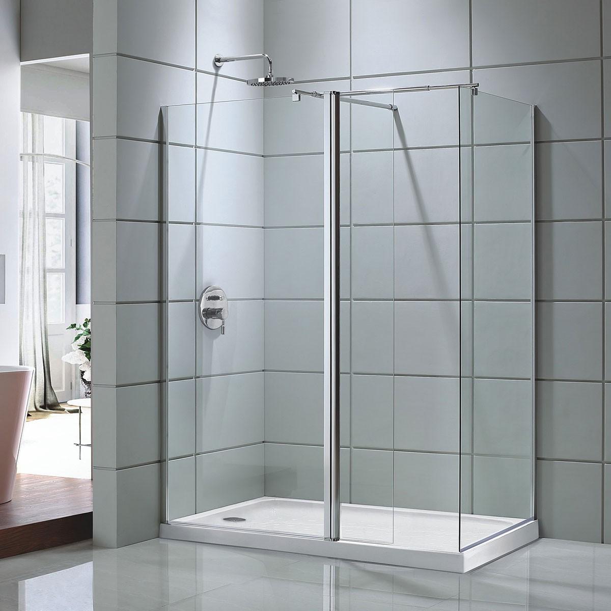 60 In. Shower Door with 36 In. Side Panel (DK-D203-150) | Decoraport USA