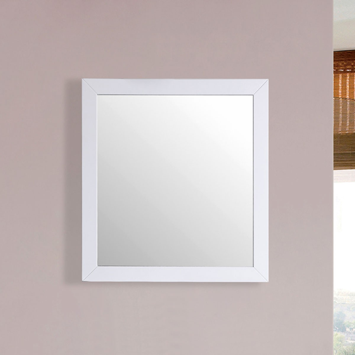 30 x 31 In. Mirror with White Frame (DK-T9312-30WM)