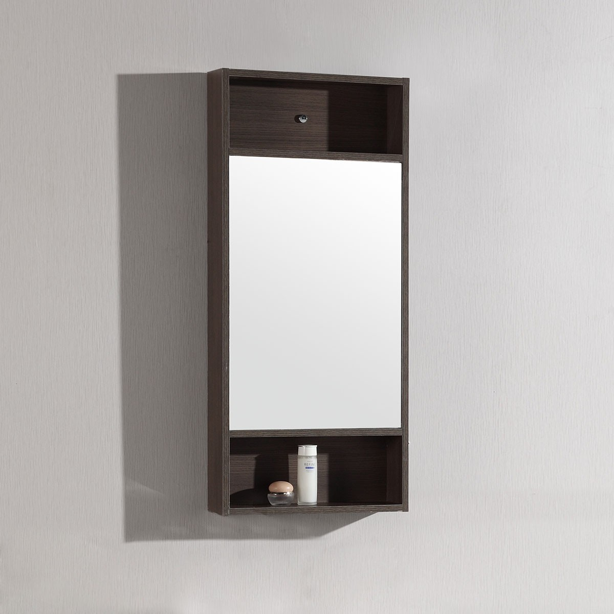 18 x 28 In. Mirror with Brown Frame (DK-TH20160A-M)