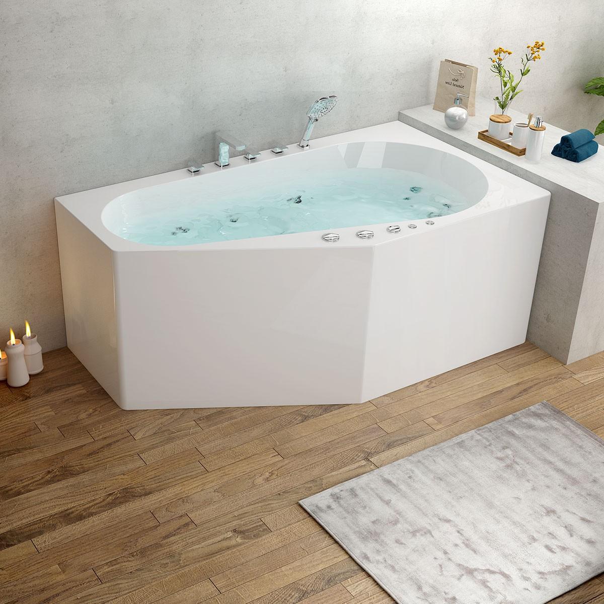 59 In Whirlpool Bathtub - Acrylic White (DK-M13585L-B)