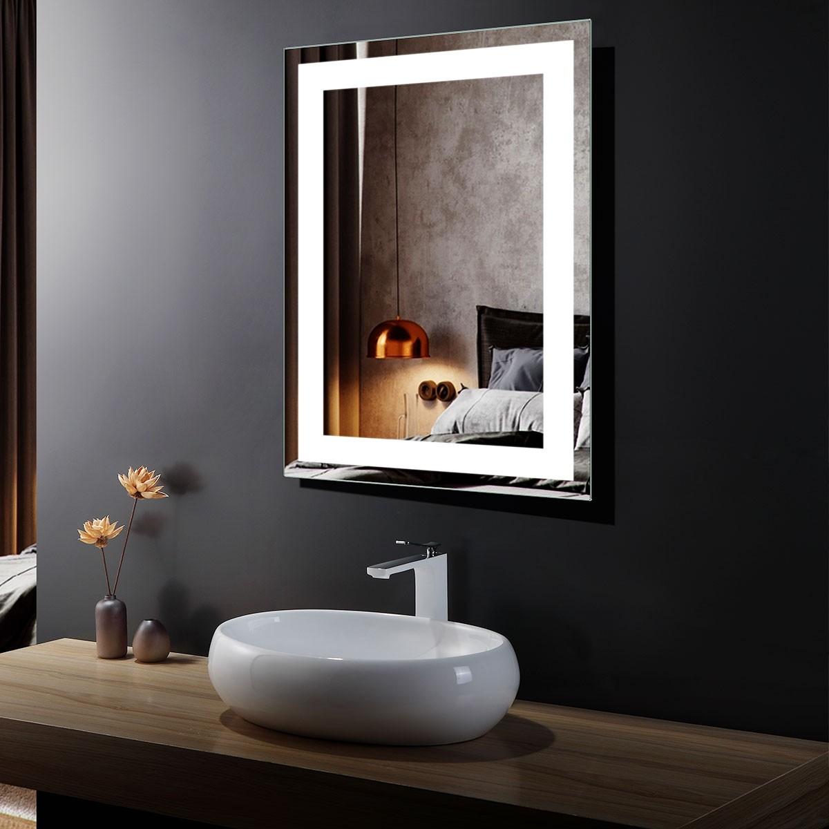 DECORAPORT 24 x 32 In LED Bathroom Mirror with Infrared Sensor Control, Anti-Fog, Vertical & Horizontal Mount (CG15-2432)