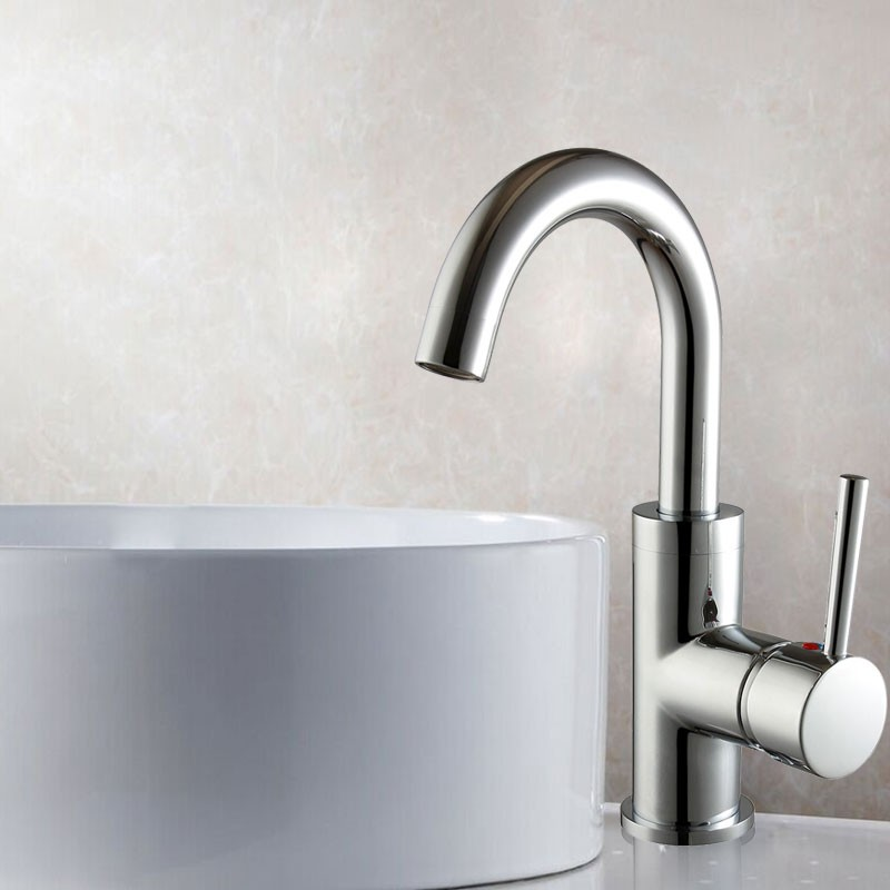 Basin&Sink Faucet - Brass with Chrome Finish (5310A)