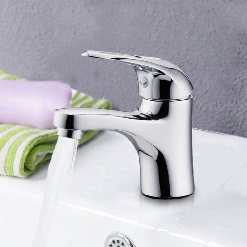 Basin&Sink Faucet - Single Hole Single Lever - Brass with Chrome Finish (3027)