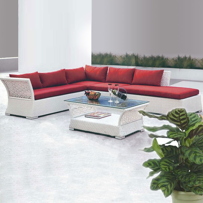 Wicker Patio Sectional with Cushion Insert (JMS-812)