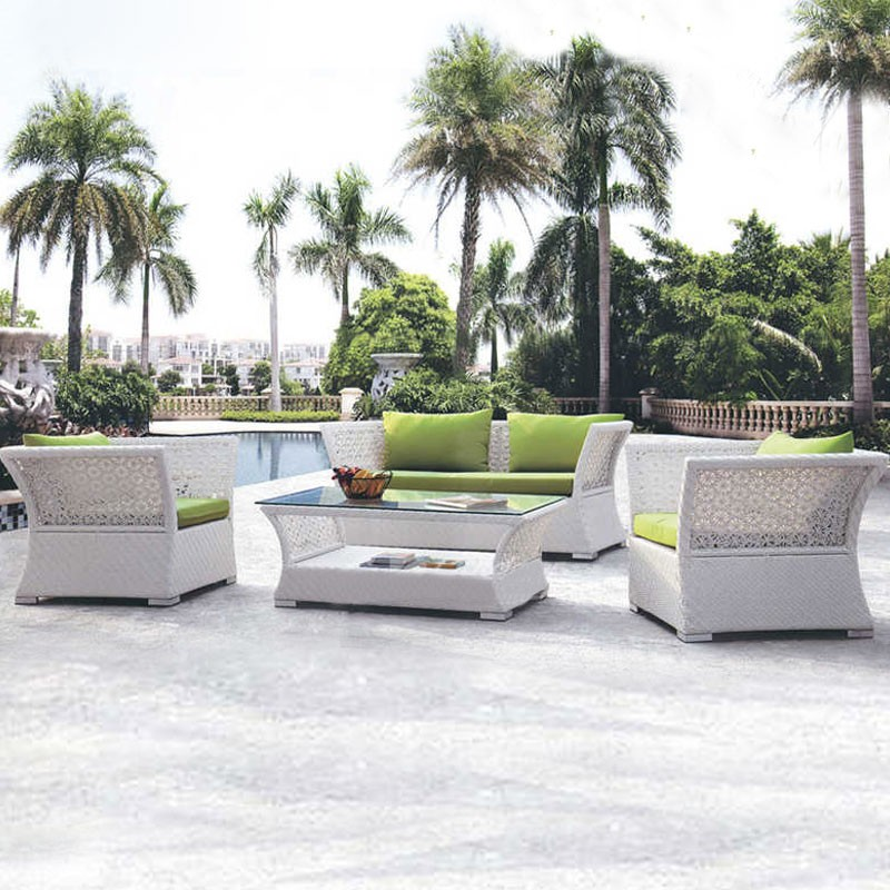 Wicker Patio Seating Set with Cushion Insert (JMS-823)