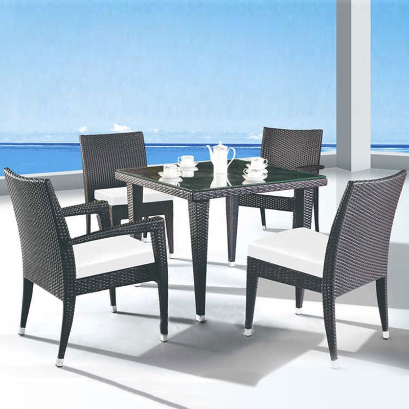 5 Pieces Dining Set: 1* Dining table, 2 * Chair, 2 * Armless Chair (JMS-1619)
