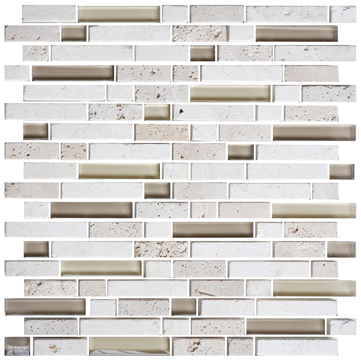 8mm Thickness Electroplated Glass Mosaic Tile - 12 in. x 12 in. (DK-RS234873A1)