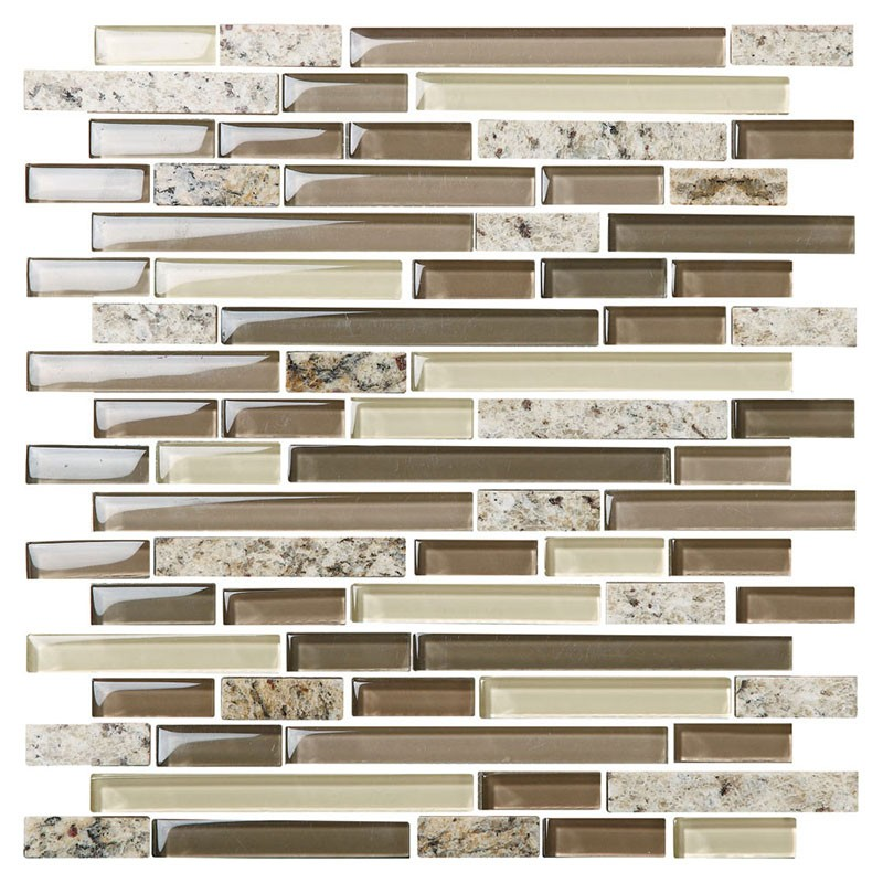 8mm Thickness Electroplated Glass Mosaic Tile - 12 in. x 12 in. (DK-MG154898198SRE)