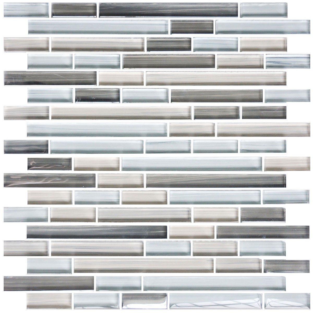 8mm Thickness Electroplated Glass Mosaic Tile - 12 in. x 12 in. (DK-MG4898198ZS3)
