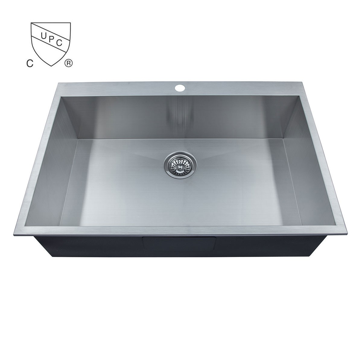 Stainless Steel Single Bowl Handmade Kitchen Sink (AS3322-R0)