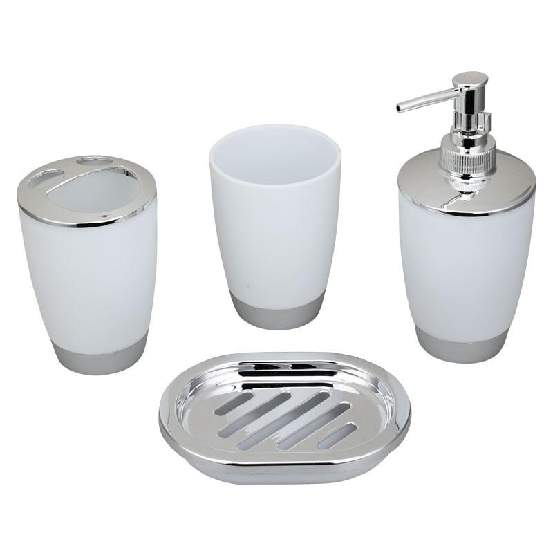 4-Piece Bathroom Accessory Set, White Collection (DK-ST009)