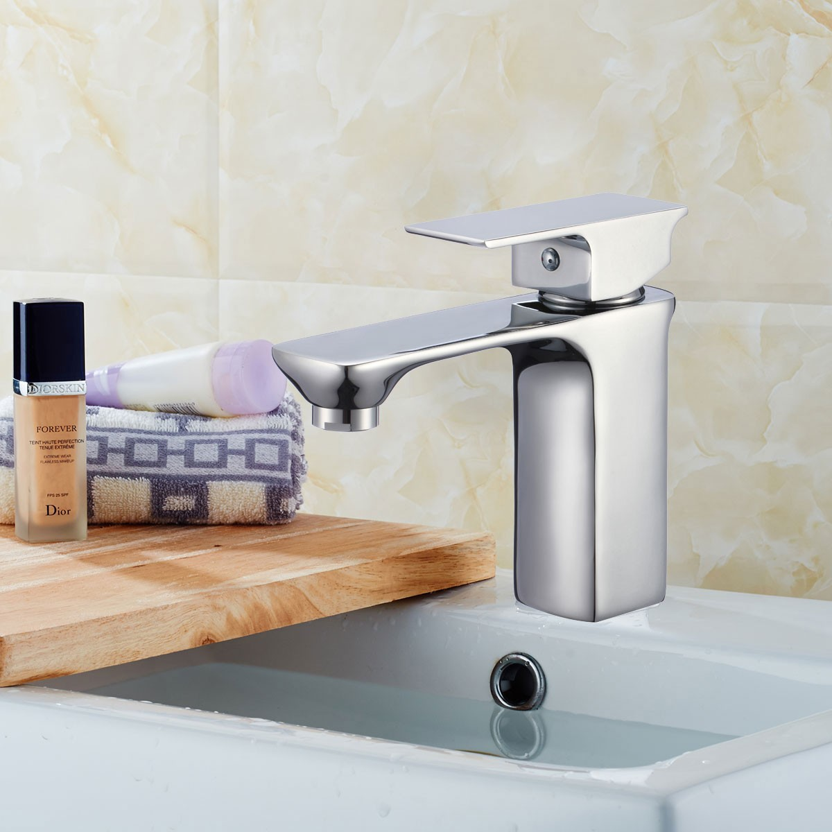 Basin&Sink Faucet - Brass with Chrome Finish (81H36-CHR-007)