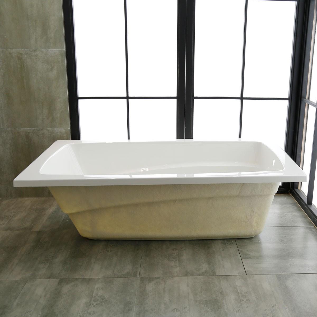 66 X 36 In Drop In Bathtub   Acrylic White (DK K14791