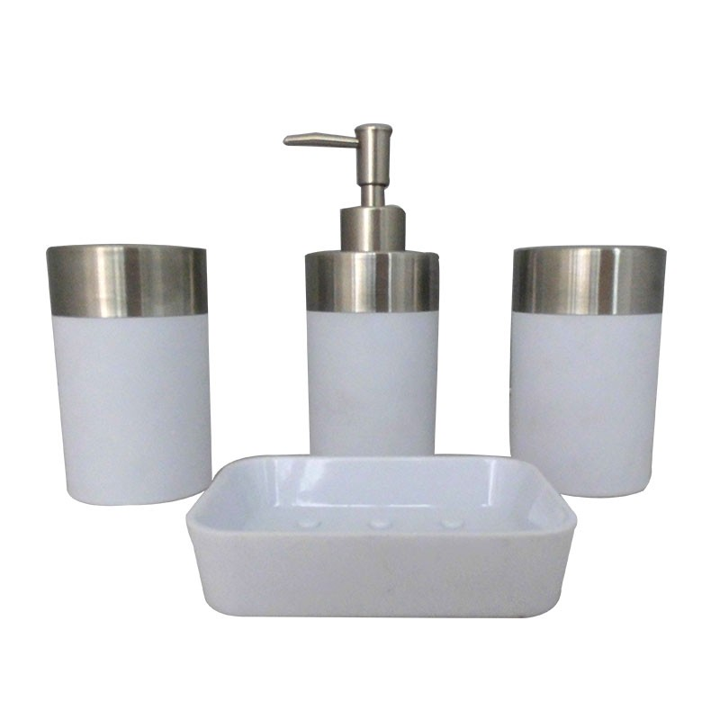 4-Piece Bathroom Accessory Set, White Collection (DK-ST020)