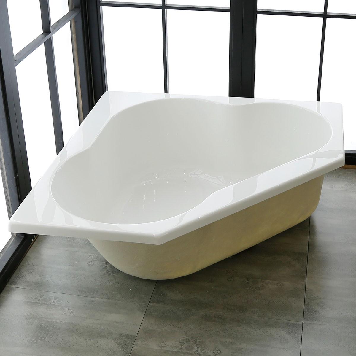 47 In Triangle Drop-in Bathtub - Acrylic Pure White (DK-PW-REALMCB ...