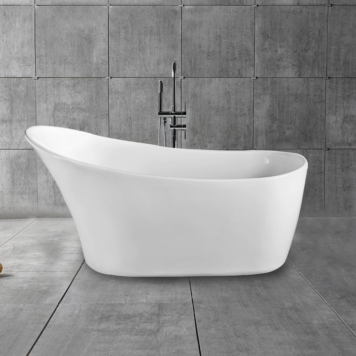 67 In Acrylic White Freestanding Bathtub (DK-MEC3149)