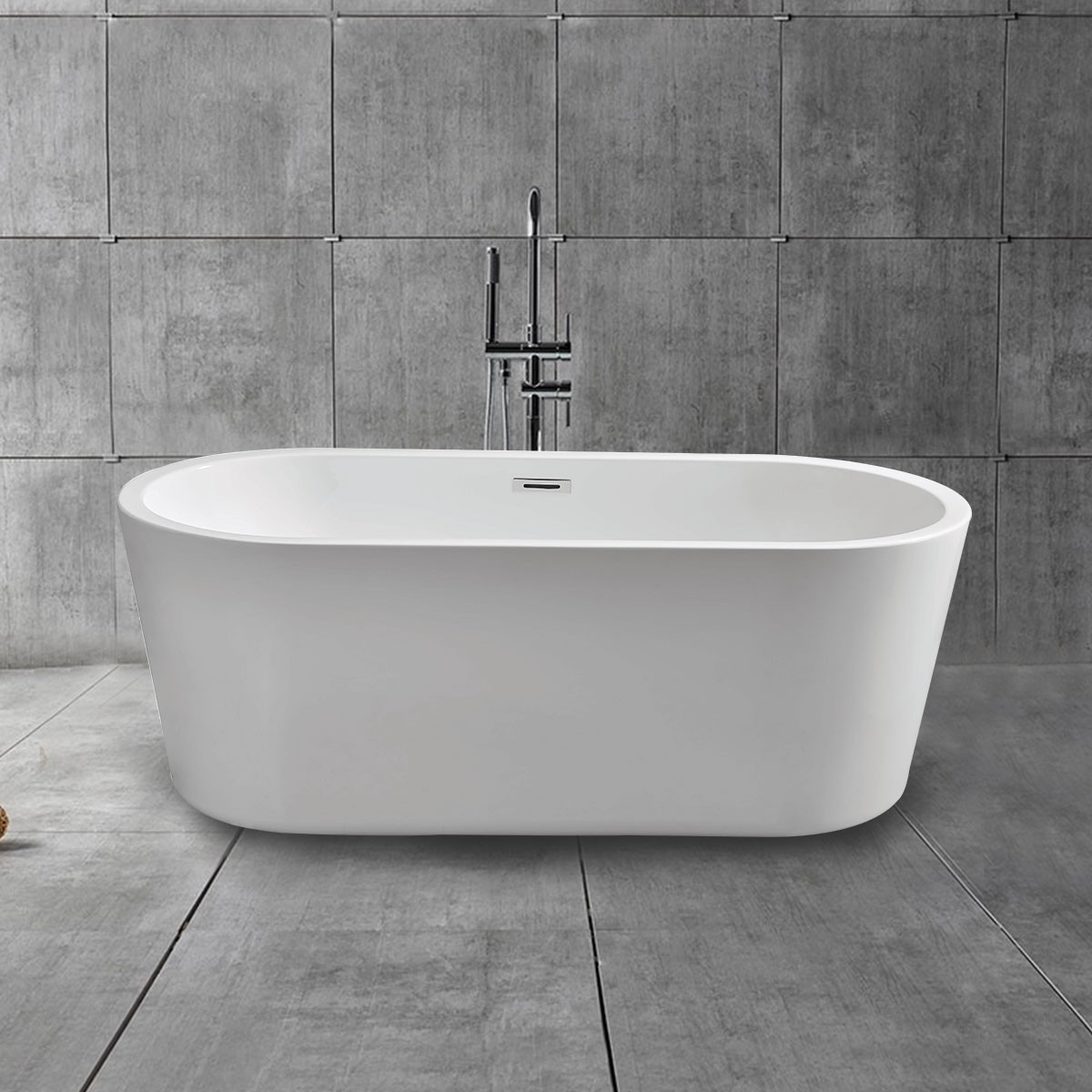 67 In Acrylic White Freestanding Bathtub (DK-MEC3004B)