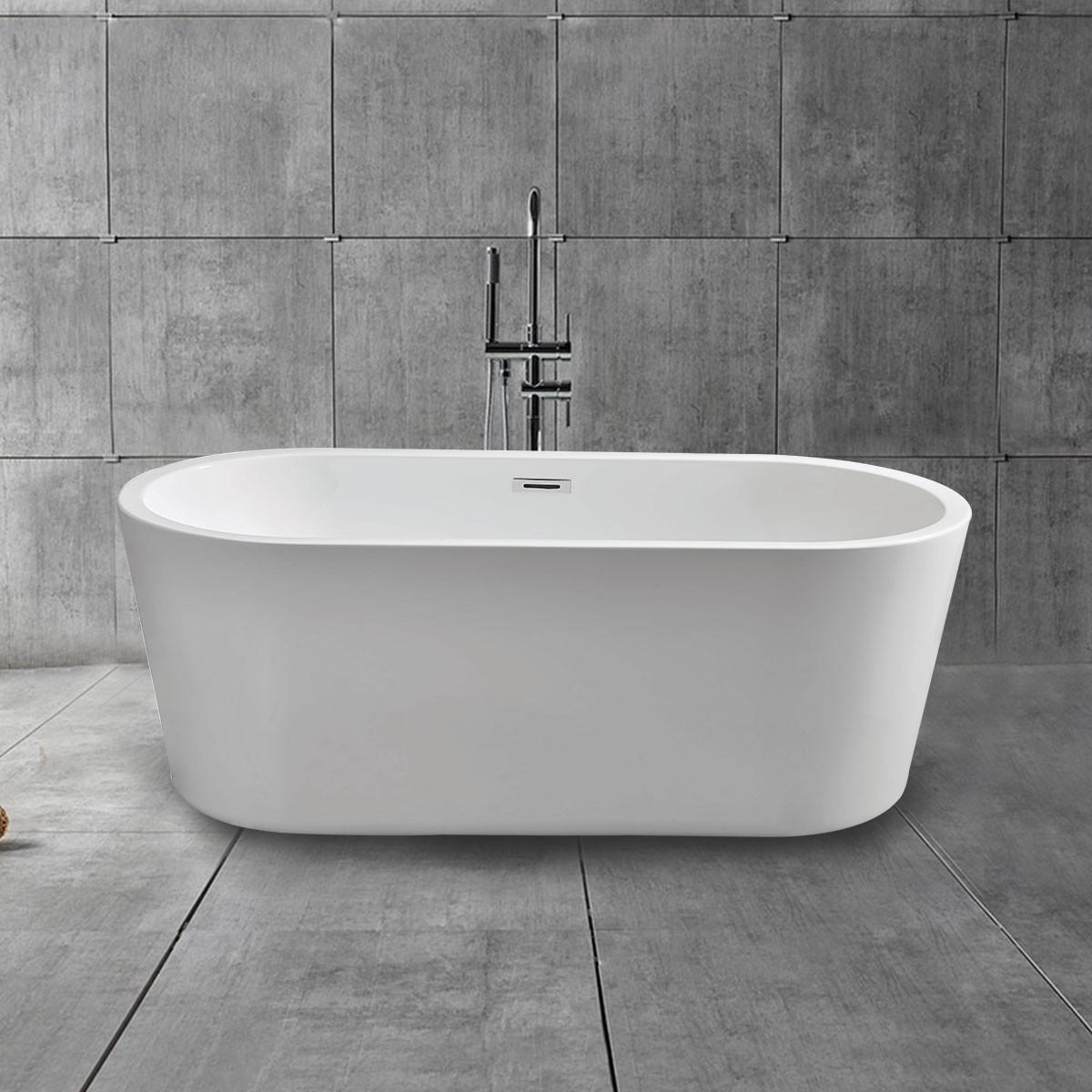 67 In Acrylic White Freestanding Bathtub (DK-MEC3004B)