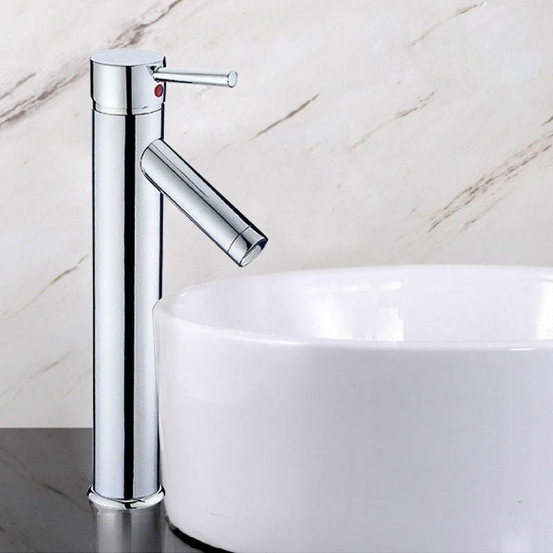 Decoraport Modern Style Basin&Sink Faucet - Brass with Chrome Finish (5720CH)