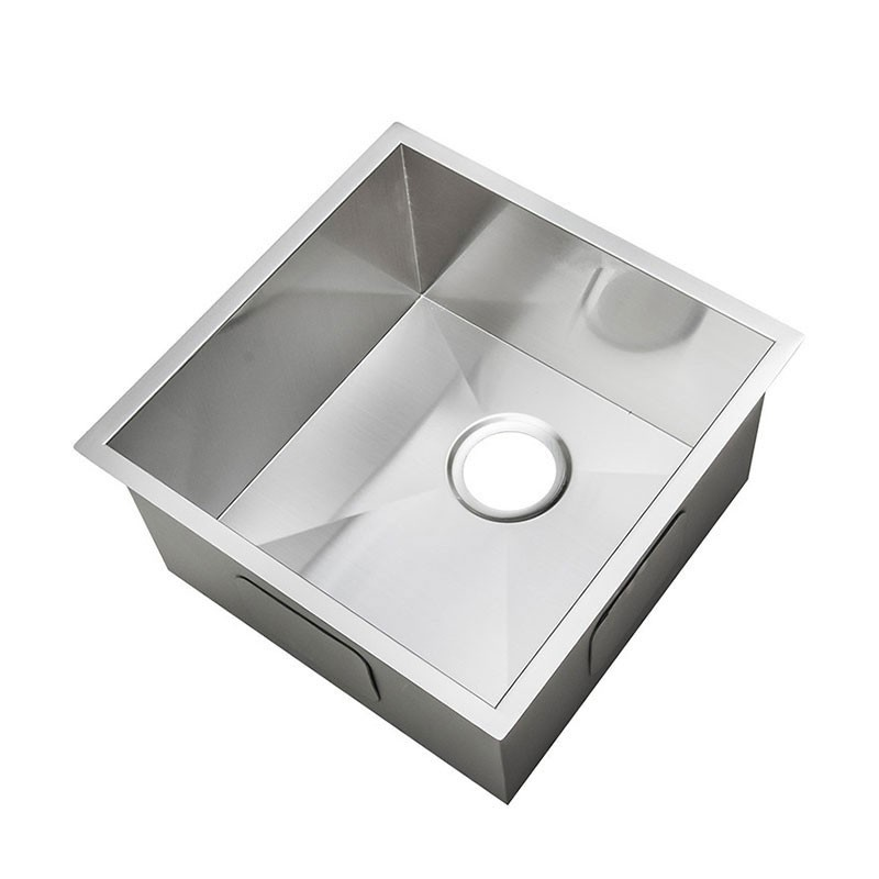 15 x 15 In. Stainless Steel Single Bowl Kitchen Sink (AS1515-R0 ...