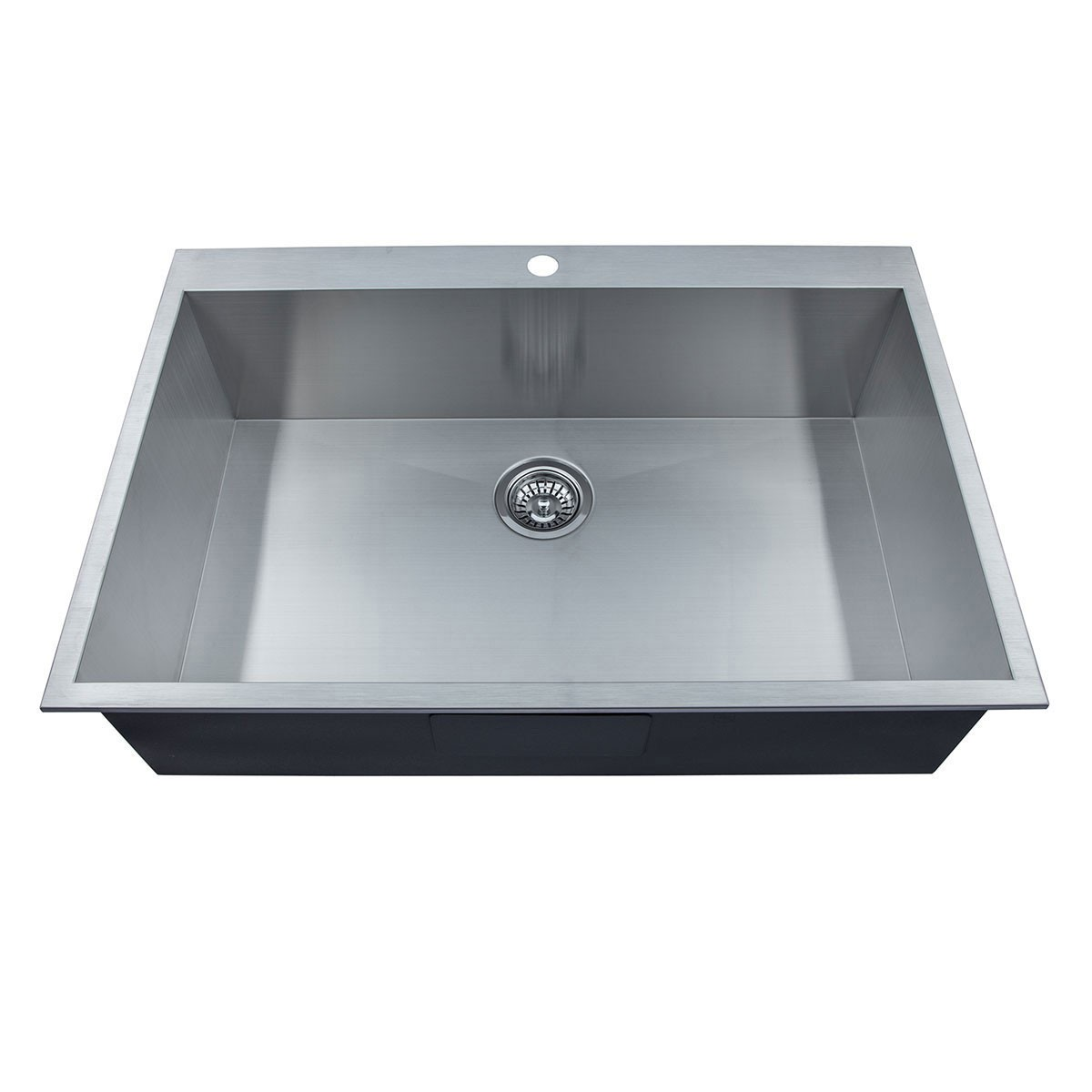 33 x 22 In. Stainless Steel Single Bowl Handmade Kitchen Sink (AS3322-R0)