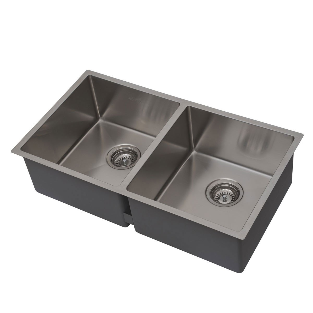 32 x 19 In. Stainless Steel Kitchen Sink, Double Bowl (DSR3219-R10)