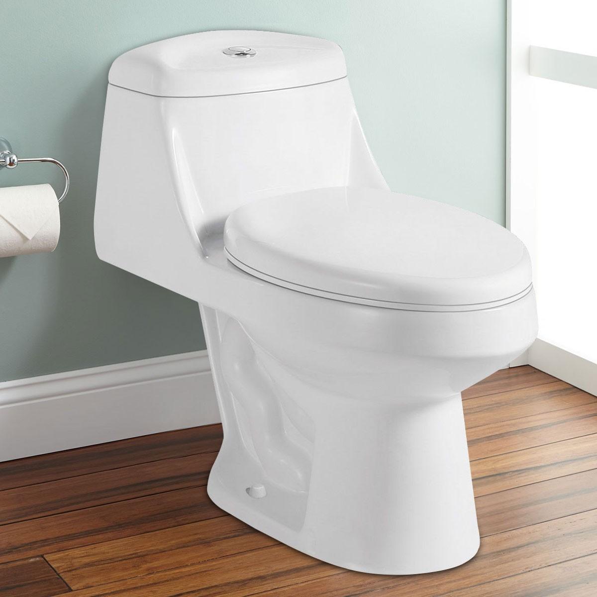 Dual Flush Siphonic One-piece Toilet (DK-ZBQ-12027) | Decoraport USA