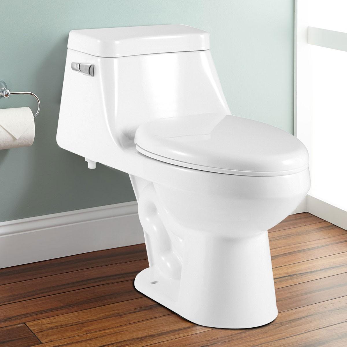 Single Flush Siphonic One-piece Toilet (DK-ZBQ-12228) | Decoraport USA
