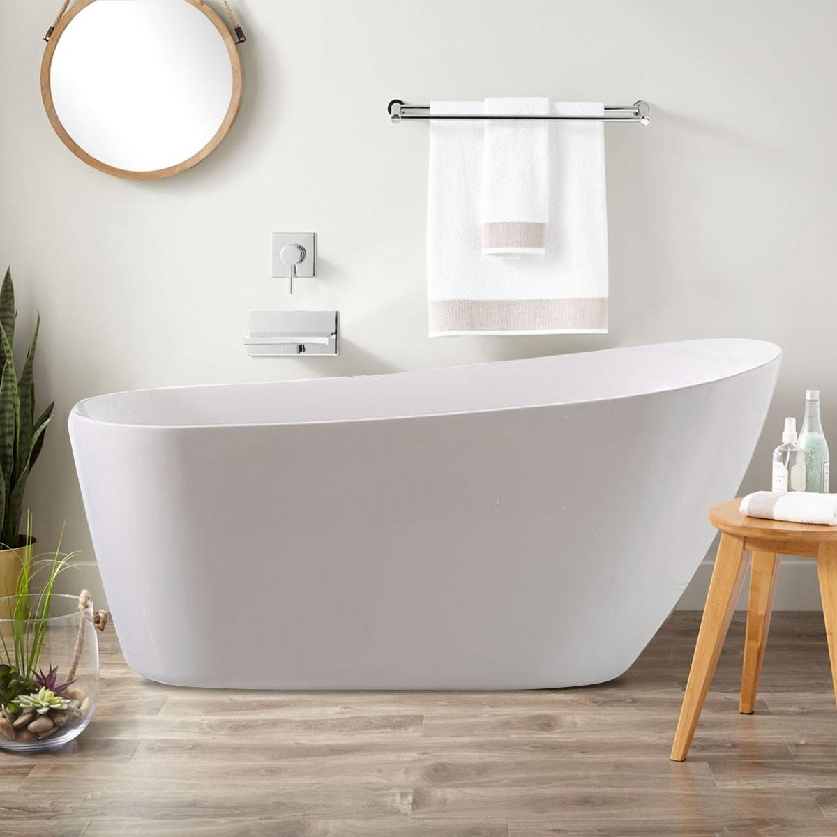 67 In Freestanding Bathtub - Acrylic Pure White (DK-PW-K33778)
