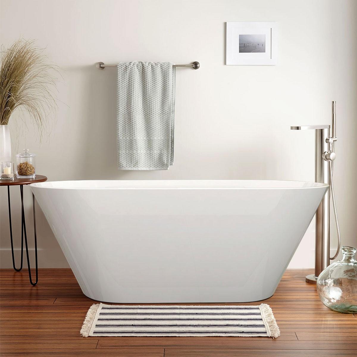 70 In Freestanding Bathtub - Acrylic Pure White (DK-PW-5878)