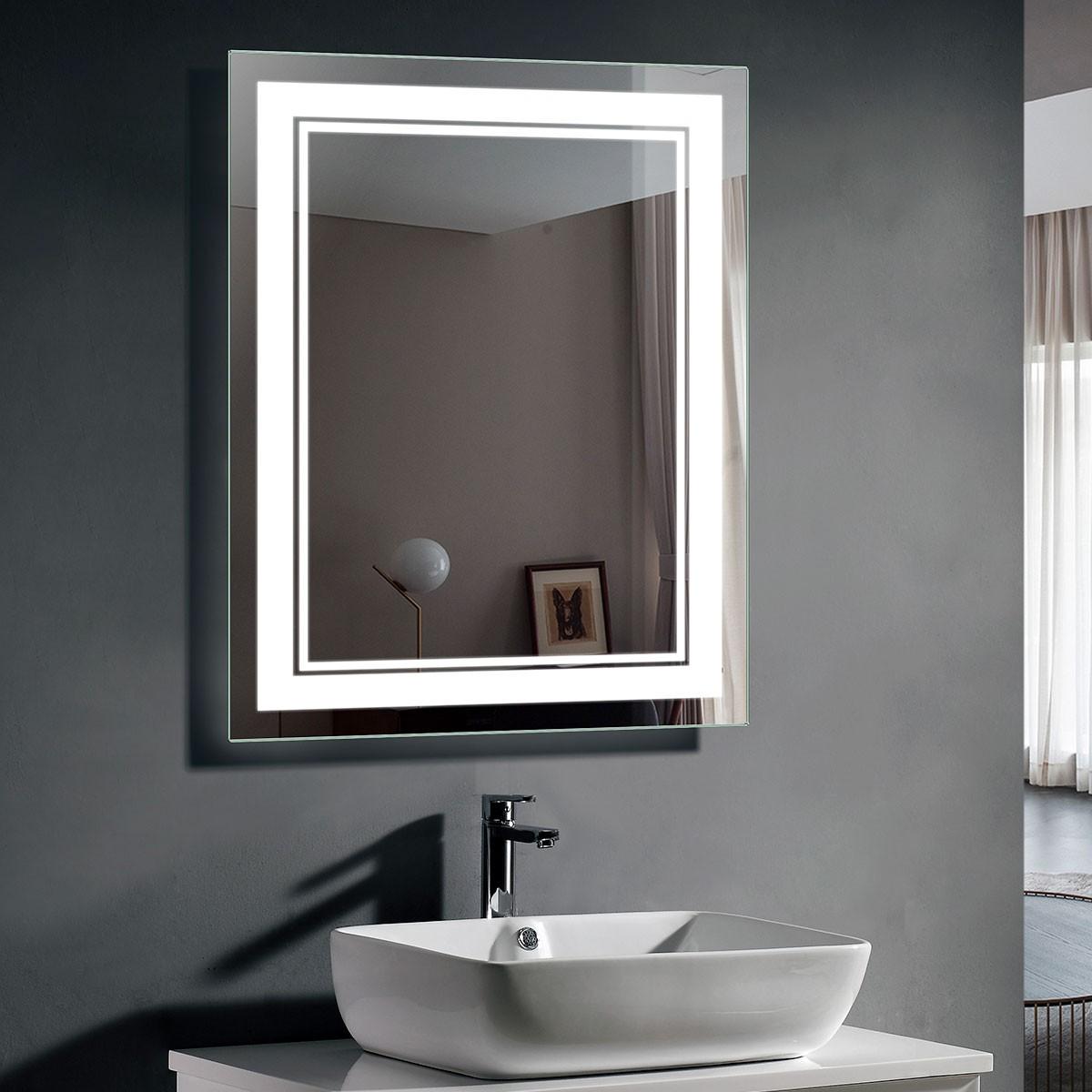 28 x 36 In LED Bathroom Mirror with Infrared Sensor (DK-OD-CK160-IG)