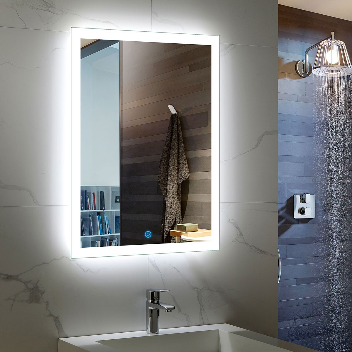 24 x 32 In Vertical LED Mirror, Touch Button (DK-OD-N031)