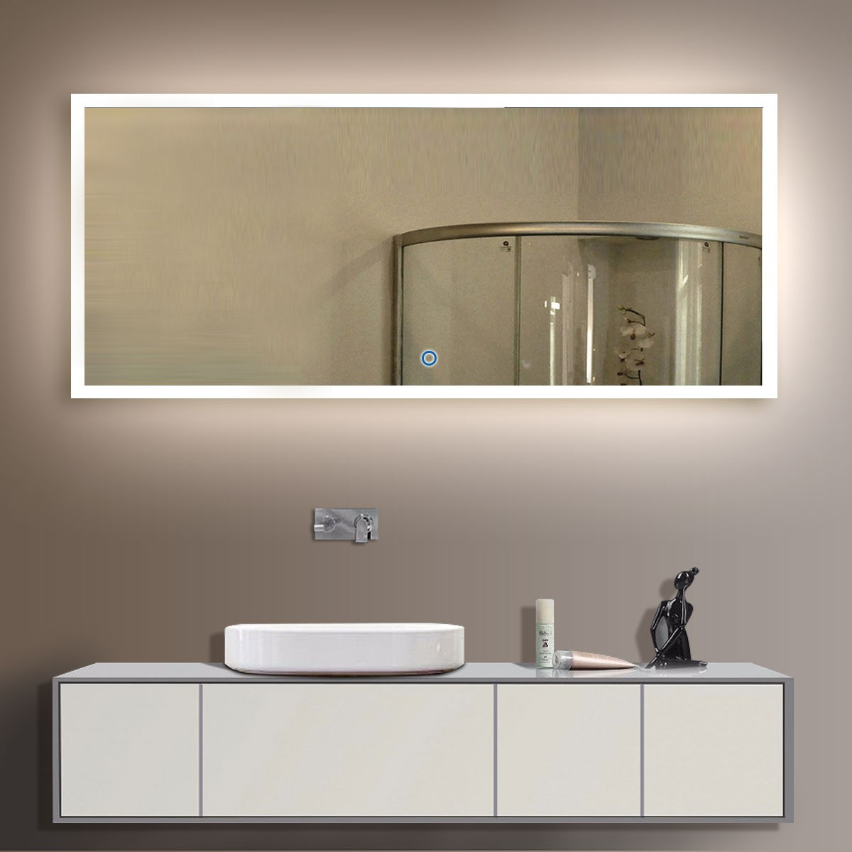Bathroom Mirror Backlit buy bathroom led lighted mirrors, backlit mirrors | decoraport usa