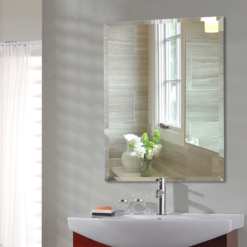 24 X 32 In Wall Mounted Rectangle Bathroom Mirror (DK OD B097H