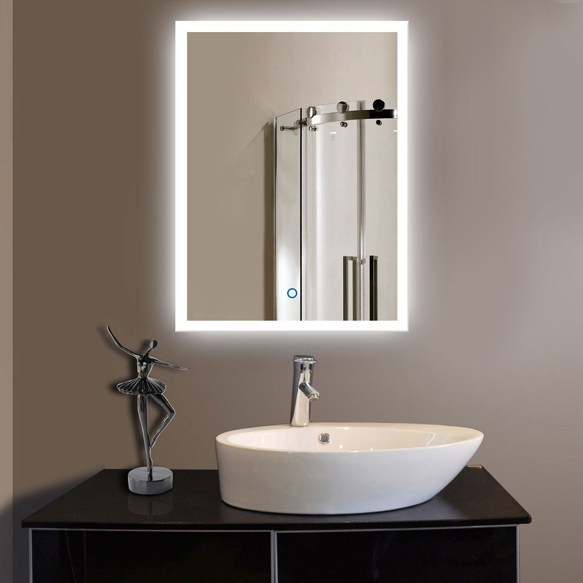 24 x 32 In Vertical LED Backlit Bathroom Mirror, Touch Button (DK-OD-N031)