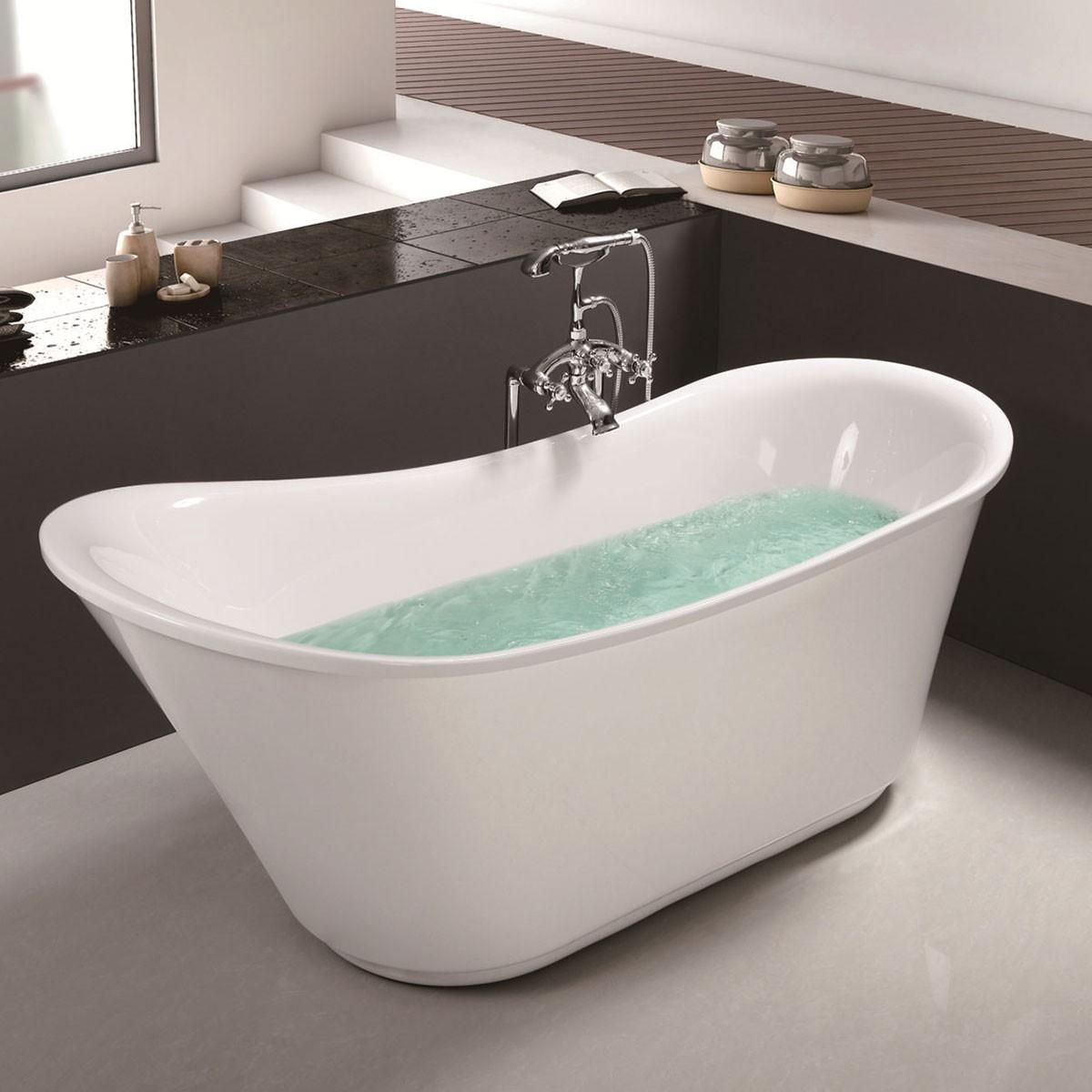 71 In Acrylic White Freestanding Bathtub (DK-MEC3003)