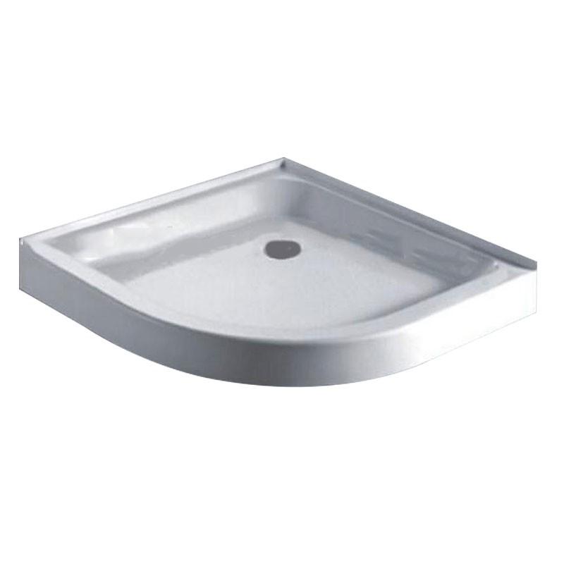 36 x 36 In Neo-round Shower Base - White Acrylic (DK-WX-01)