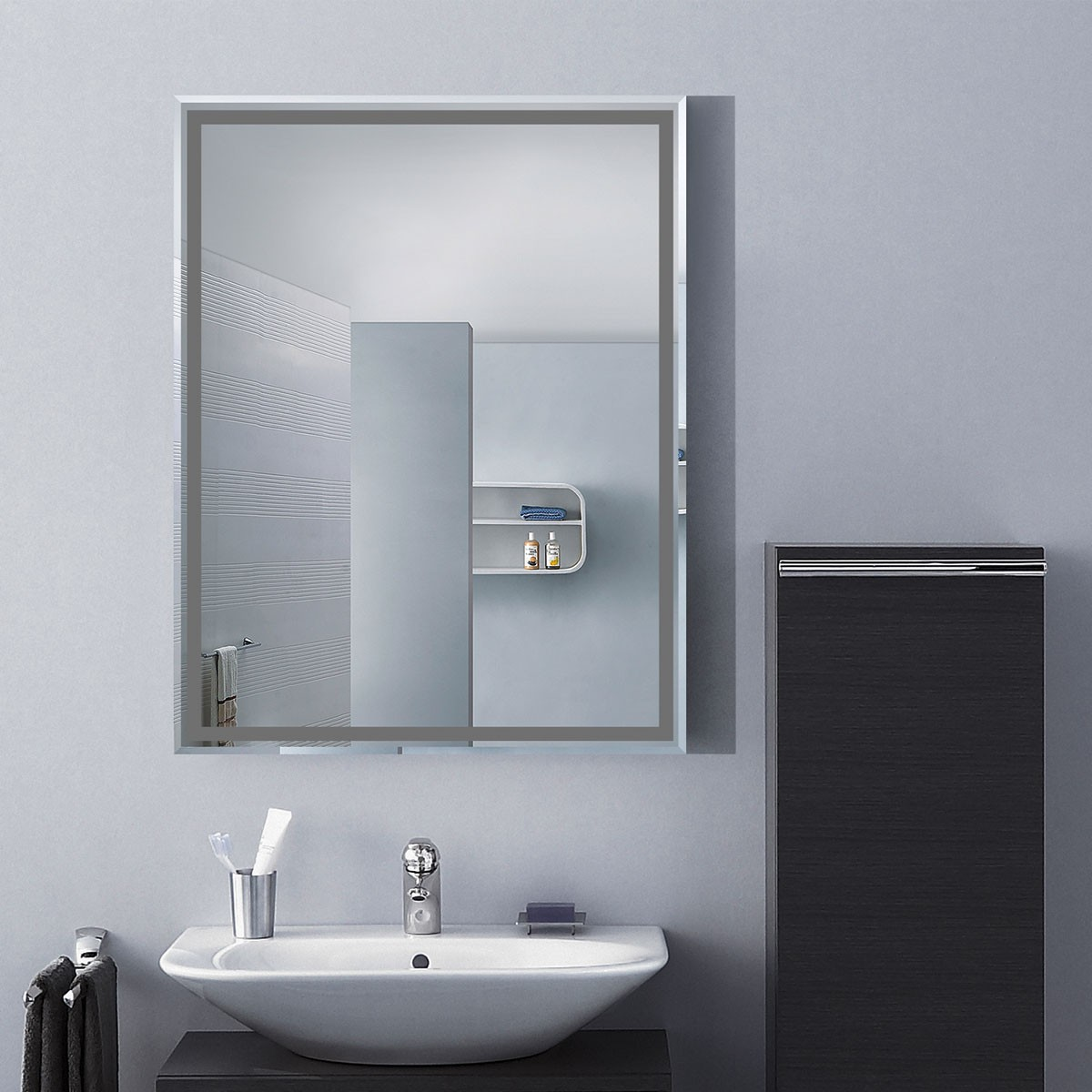 18 x 24 In. Wall-mounted Rectangle Bathroom Mirror (DK-OD-C226C)