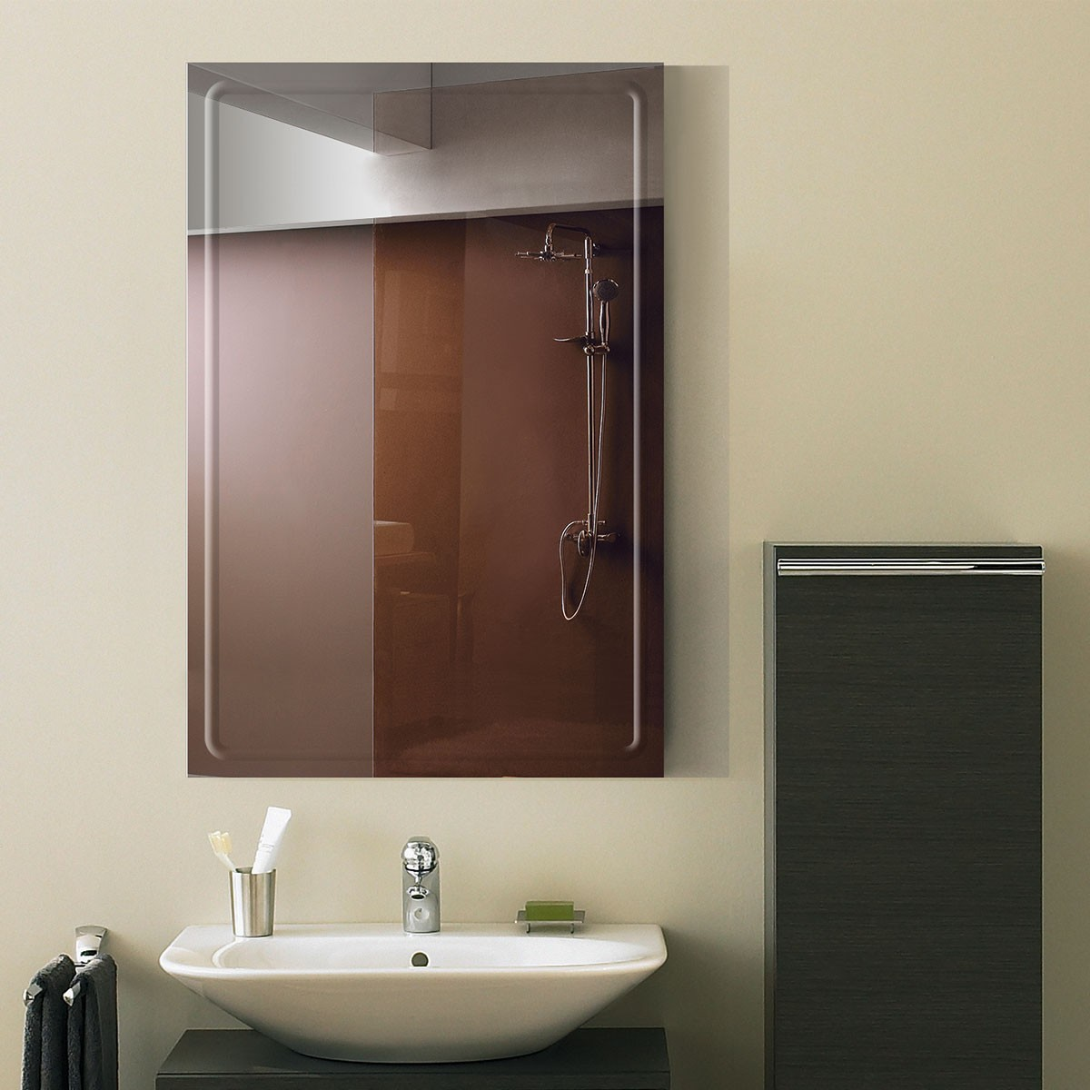 24 x 36 In. Wall-mounted Rectangle Bathroom Mirror (DK-OD-B048A)