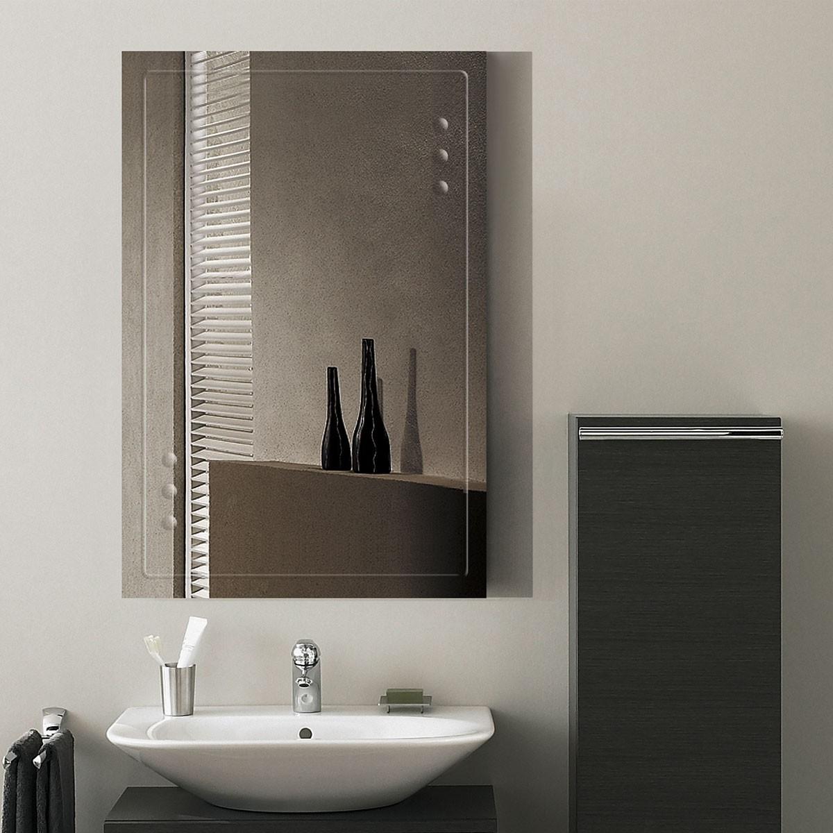 36 x 24 In. Wall-mounted Rectangle Bathroom Mirror (DK-OD-B047A)